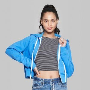 Wild Fable Cropped Zip Up Hoodie